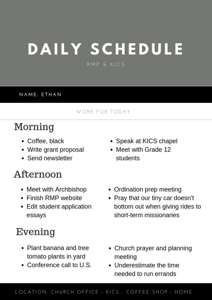 Ethan's Schedule-2
